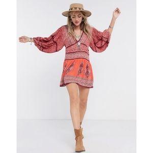 NEW Free People Luna Scarf Print mini dress